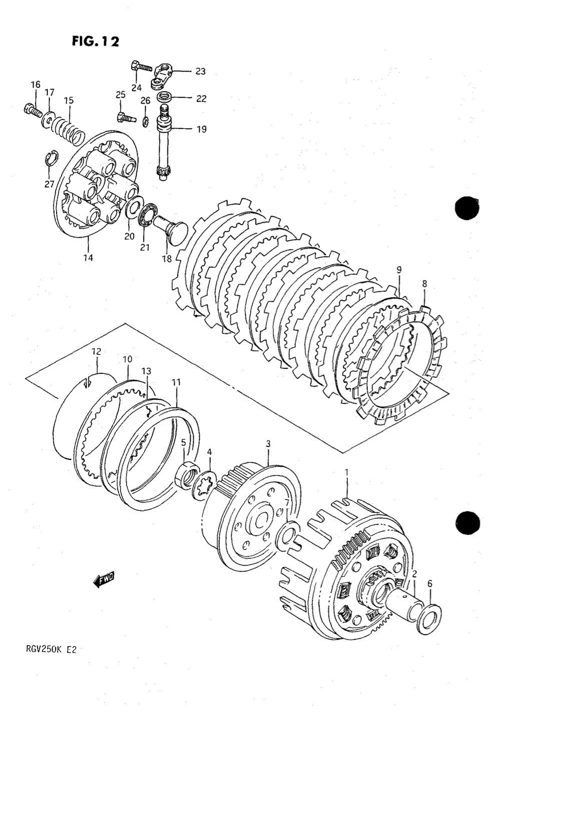 Suzuki Genuine RGV250 K-L 1989-1990 Clutch Spring 09440