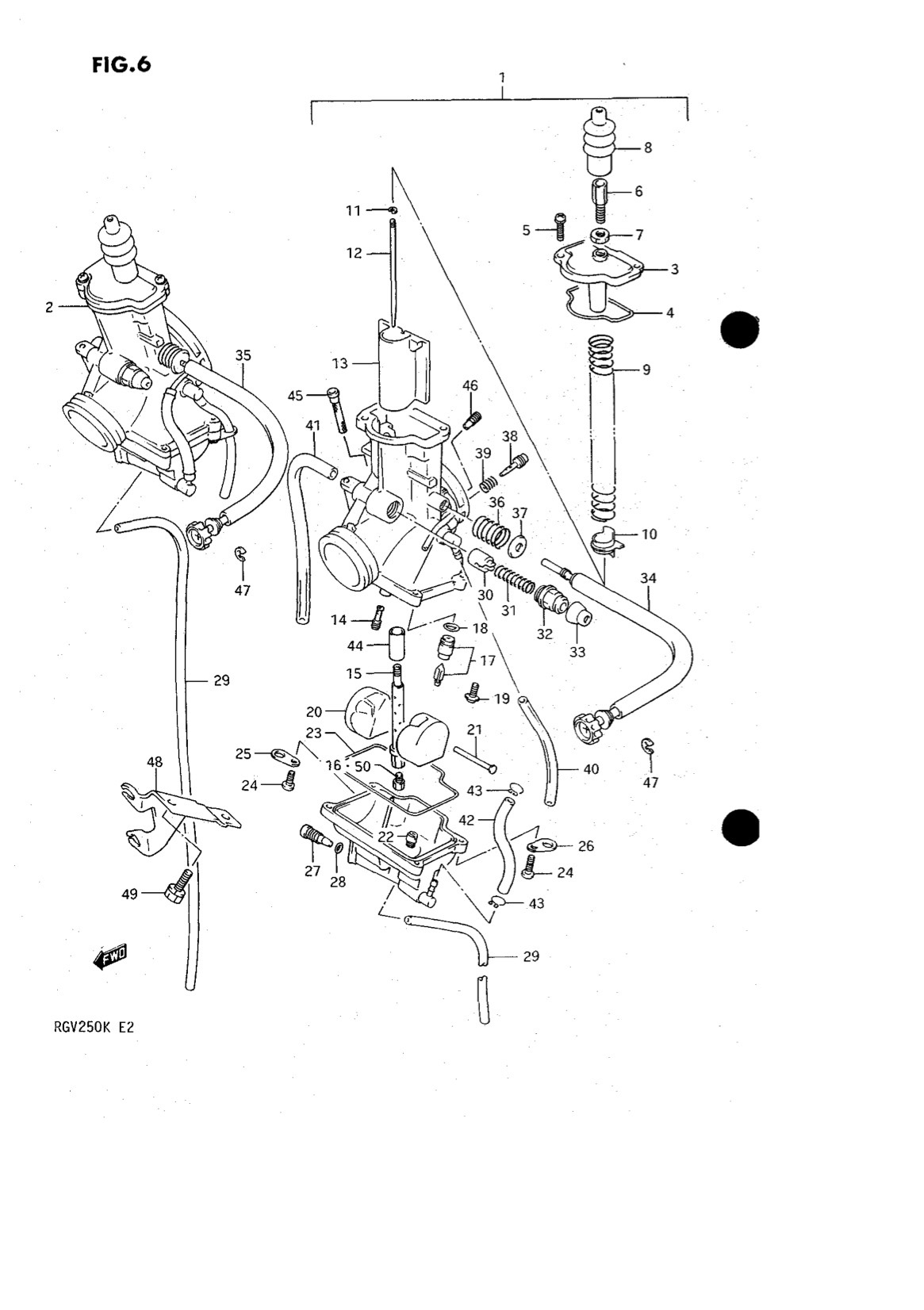 Suzuki Genuine RGV250 K-L 1989-1990 Carburetor Power (100