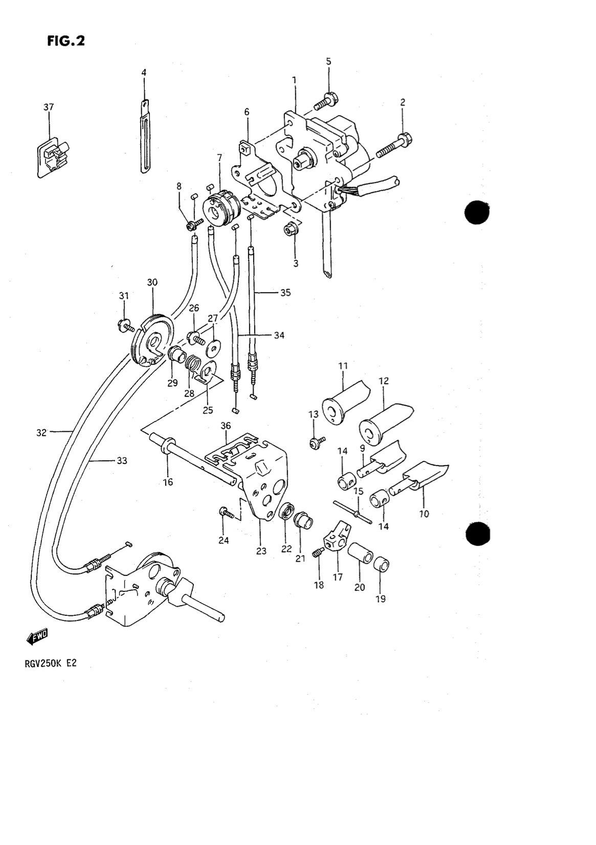 Suzuki Genuine RGV250 K-L 1989-1990 Spring Exhaust Valve