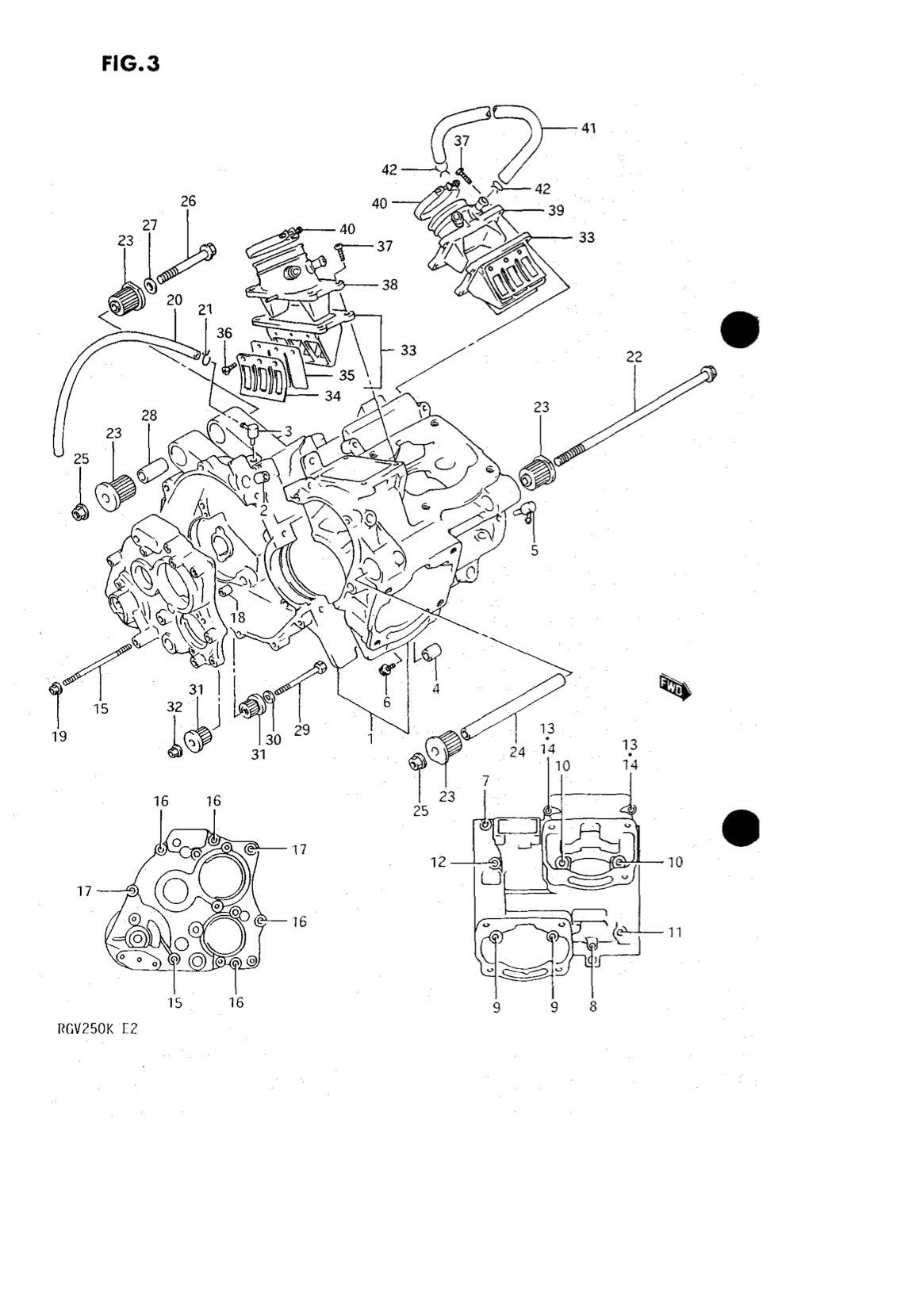 Suzuki Genuine RGV250 K-L 1989-1990 Crankcase Check Valve