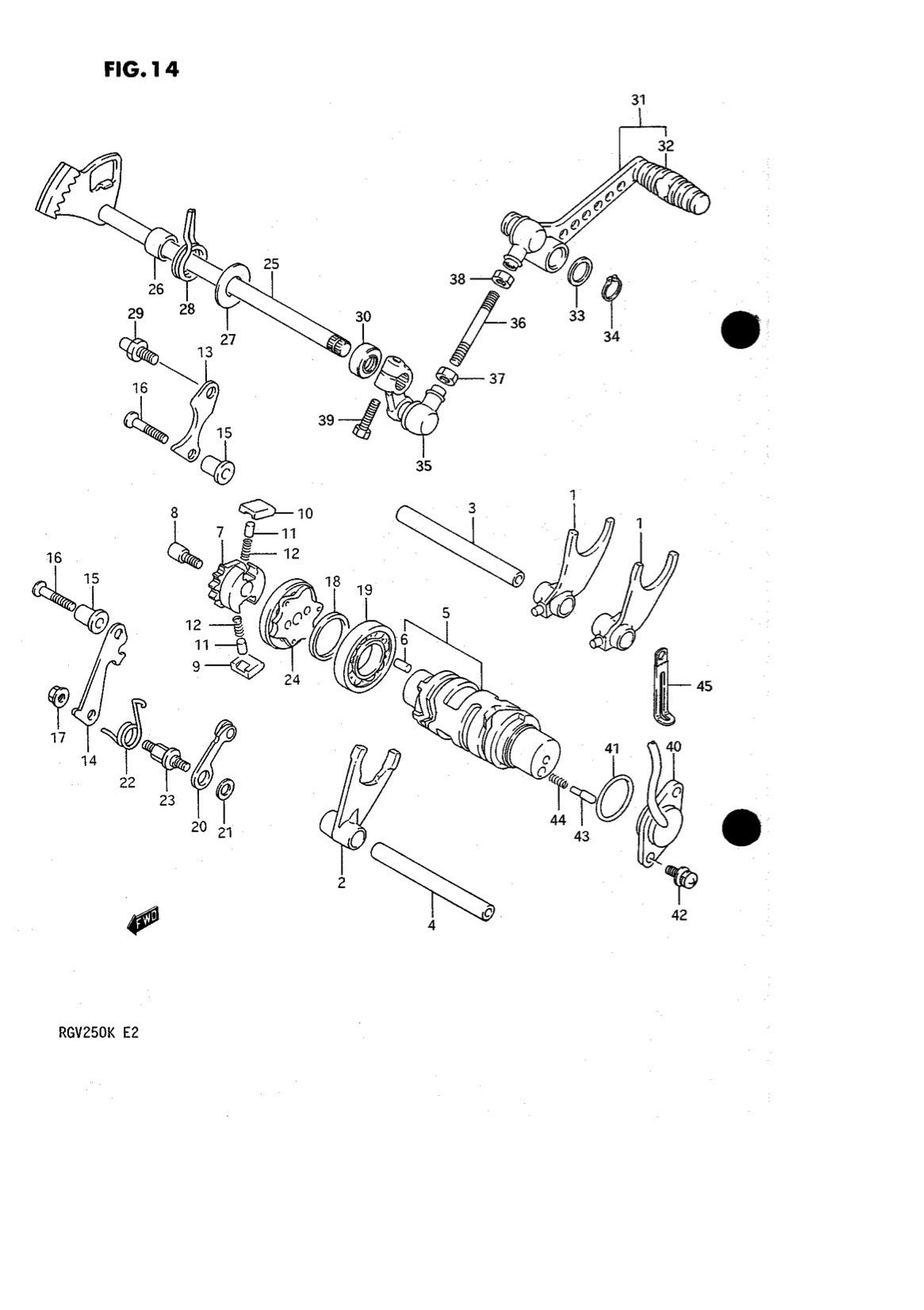 Suzuki Genuine RGV250 K-L 1989-1990 Gear Shift Link Arm