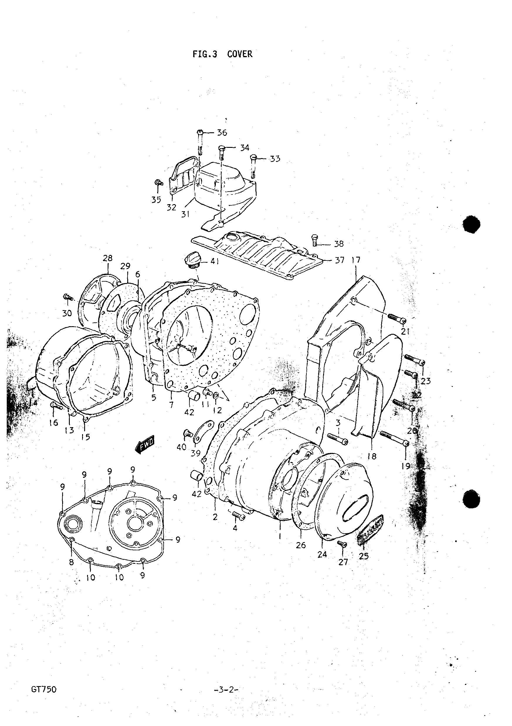 Genuine Suzuki GT750 J-M 1972-1975 Cover Oil Level Plug