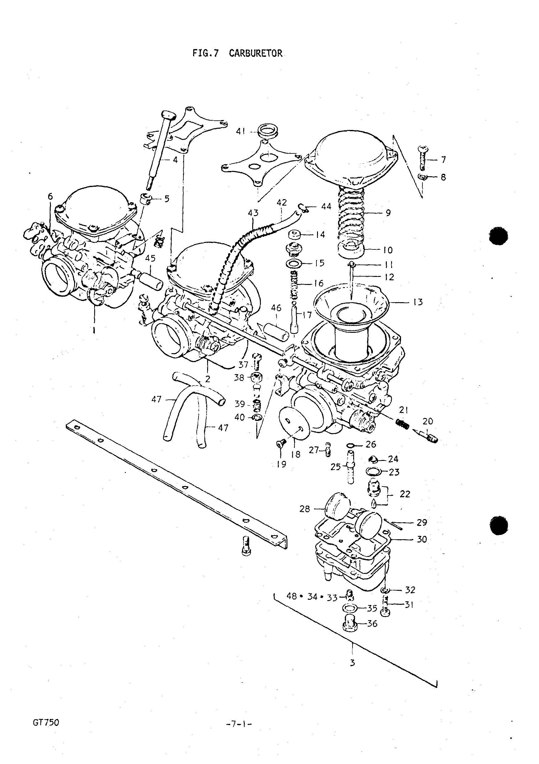 Genuine Suzuki Gt750 L M 74 75 Carburetor Jet Reverse Main