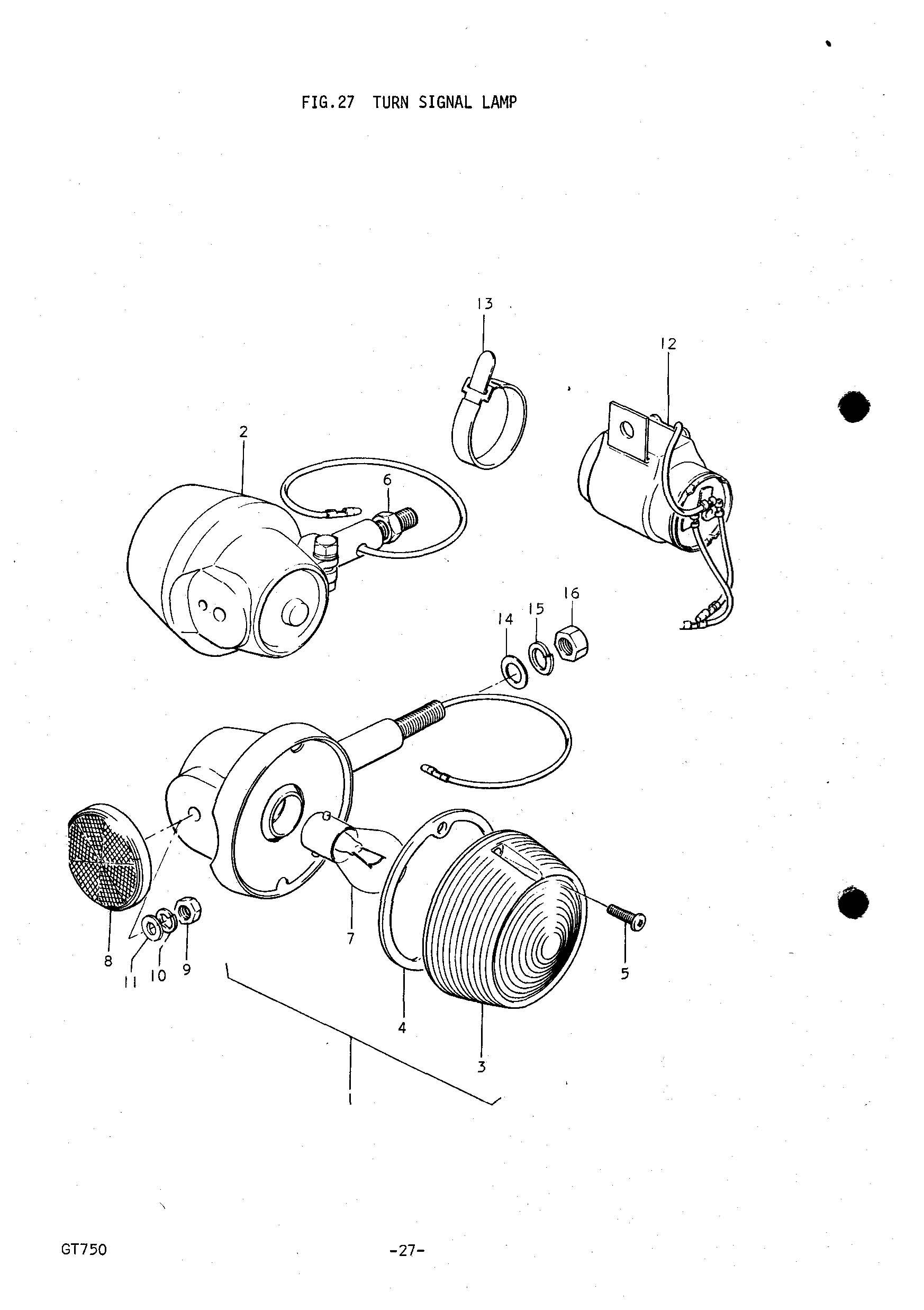 Genuine Suzuki Gt750 J M Turn Signal Relay Assy