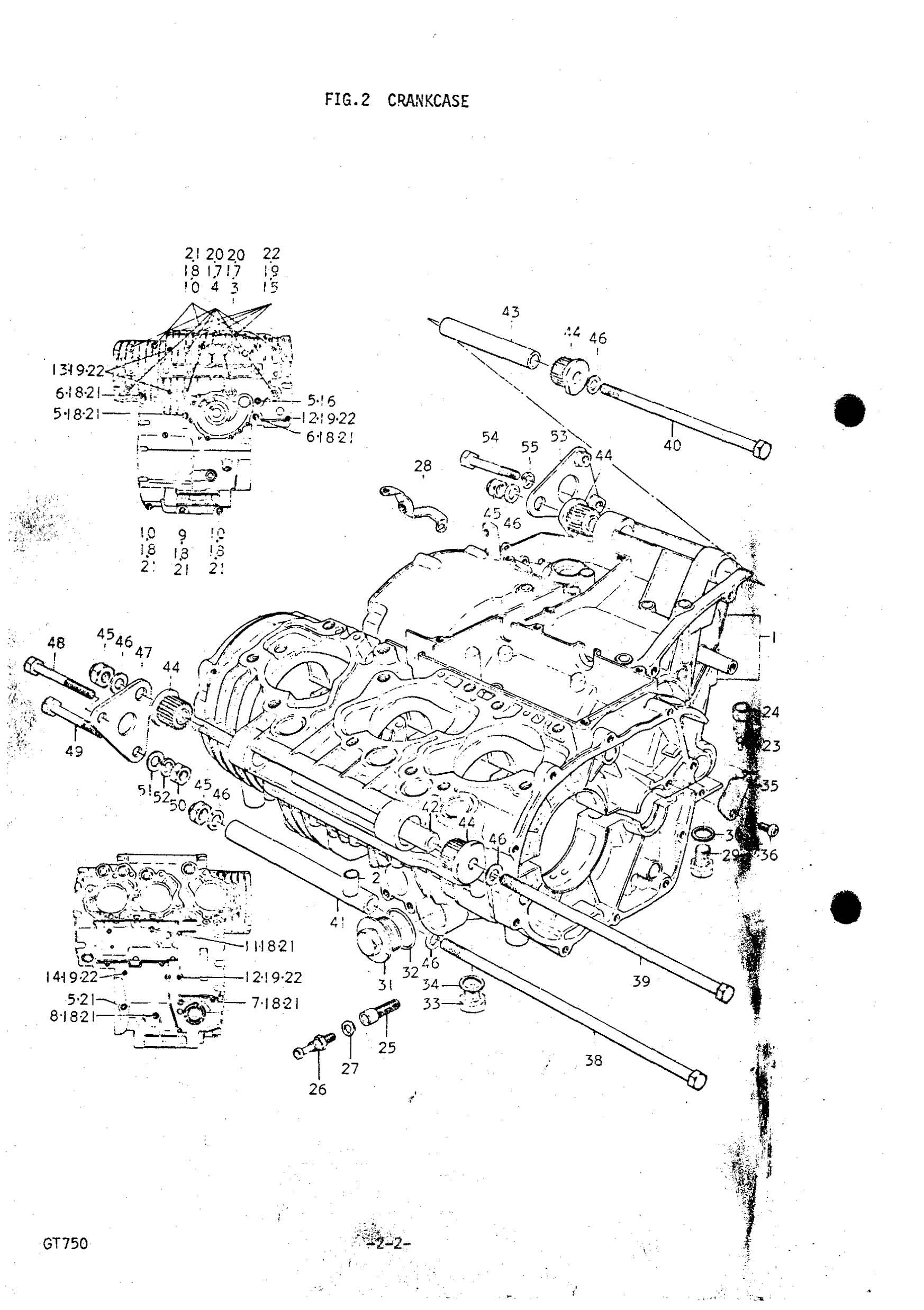 Genuine Suzuki GT750 J-M 1972-1975 Water Drain Plug No. 2
