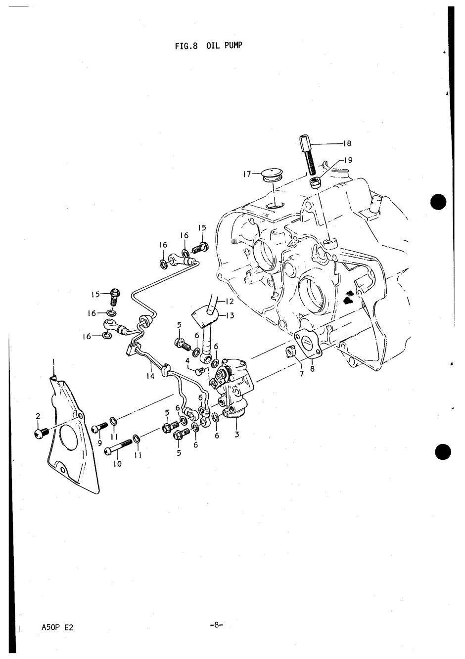 Genuine Suzuki A50P (AP50) Oil Pump Screw 02112-0610B-000