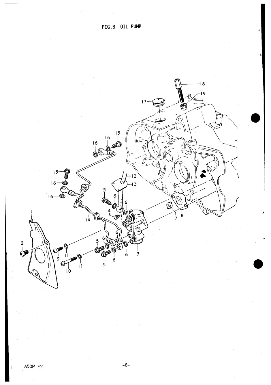 Genuine Suzuki A50P (AP50) Oil Pump Union Bolt Hole Cap