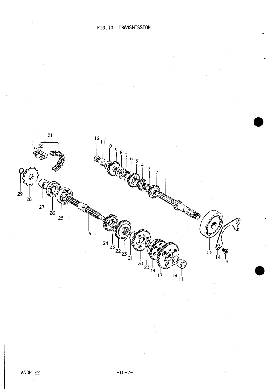 Genuine Suzuki A50P (AP50) Transmission Drive Chain