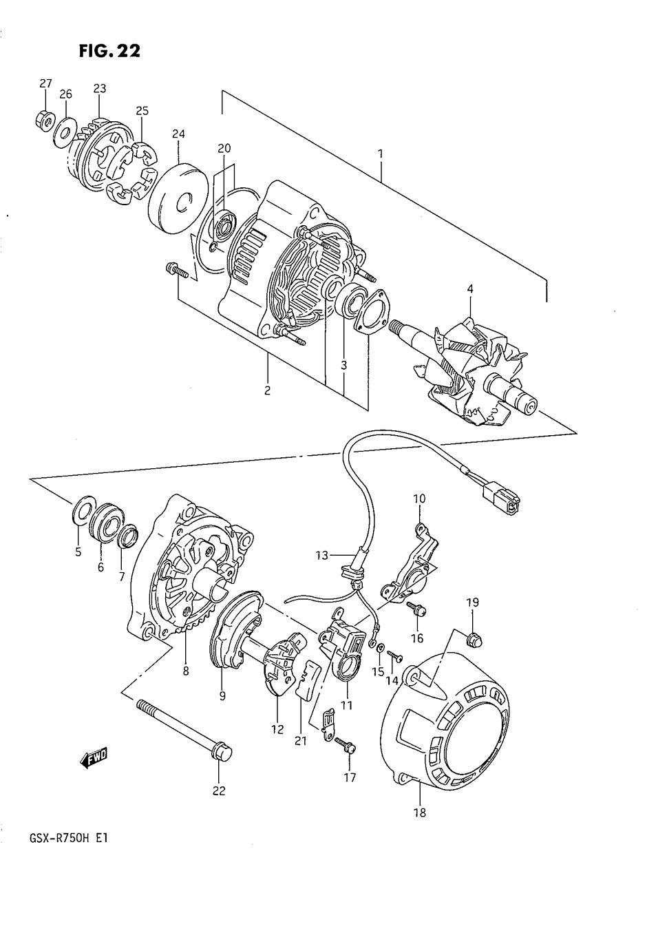 Genuine Suzuki GSX-R750 F-H 1985-1987 Alternator Bearing