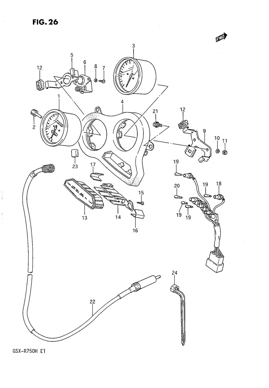 Genuine Suzuki GSX-R750 F-H 1985-1987 Speedometer Bulb 12V