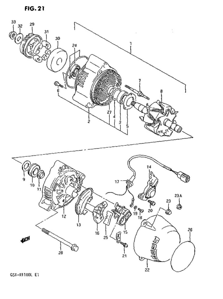 Genuine Suzuki GSX-R1100L Alternator Regulator 32500-27A00