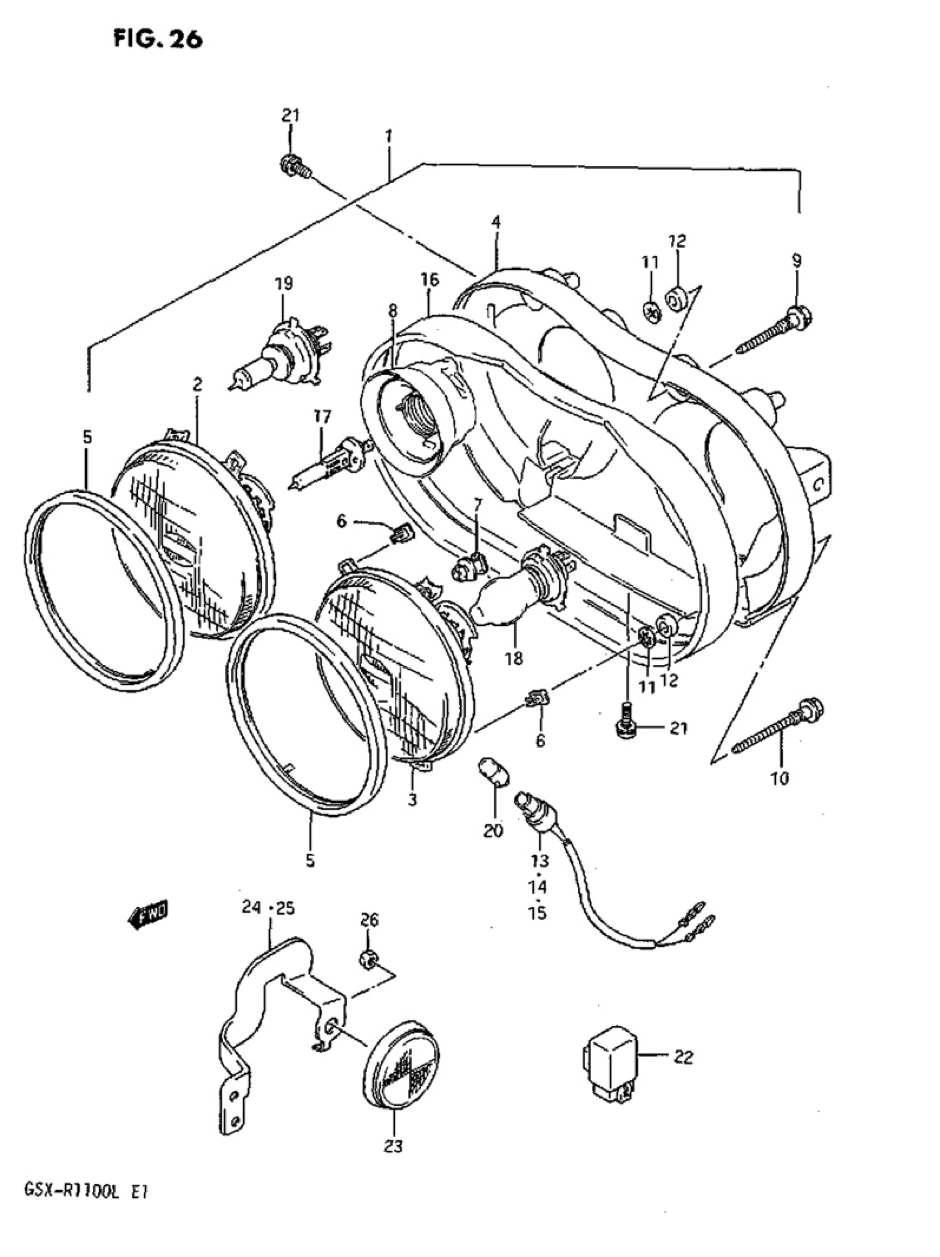 Genuine Suzuki A50P (AP50) Headlamp Socket 36118-49320-000