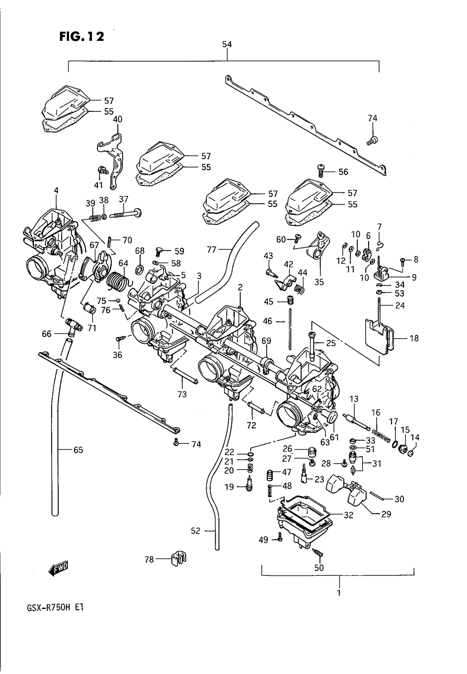 Genuine Suzuki GSX-R750 H 1987 Carburetor O Ring 13374