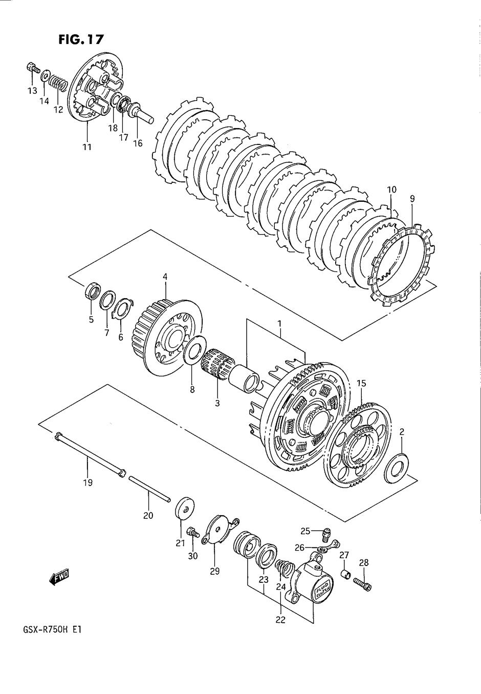 Genuine Suzuki GSX-R750 F-H 1985-87 Clutch Generator Drive