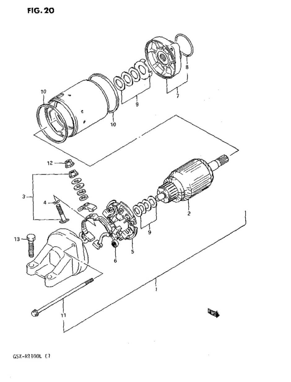 Genuine Suzuki Bandit GSF1200 T To Y Starter Motor