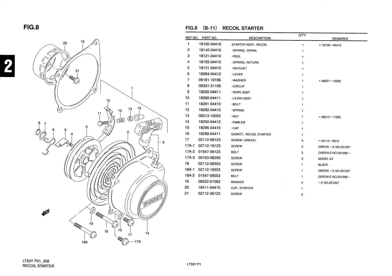 Genuine Suzuki LT50 Mini ATV Quad Recoil Starter Washer