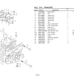 sentinel genuine suzuki lt50 mini atv quad crankcase crankcase set 11300 04884 000 [ 1524 x 1075 Pixel ]