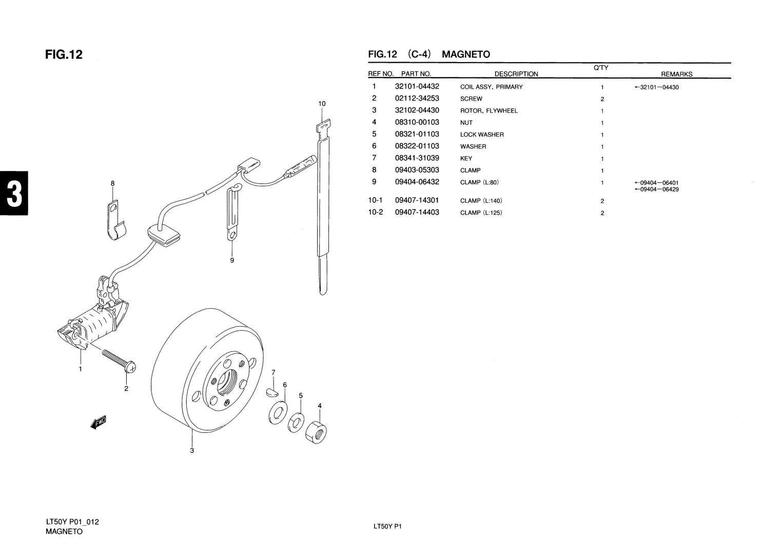 1997 suzuki lt50 parts diagram how to use data flow genuine mini atv quad magneto flywheel rotor