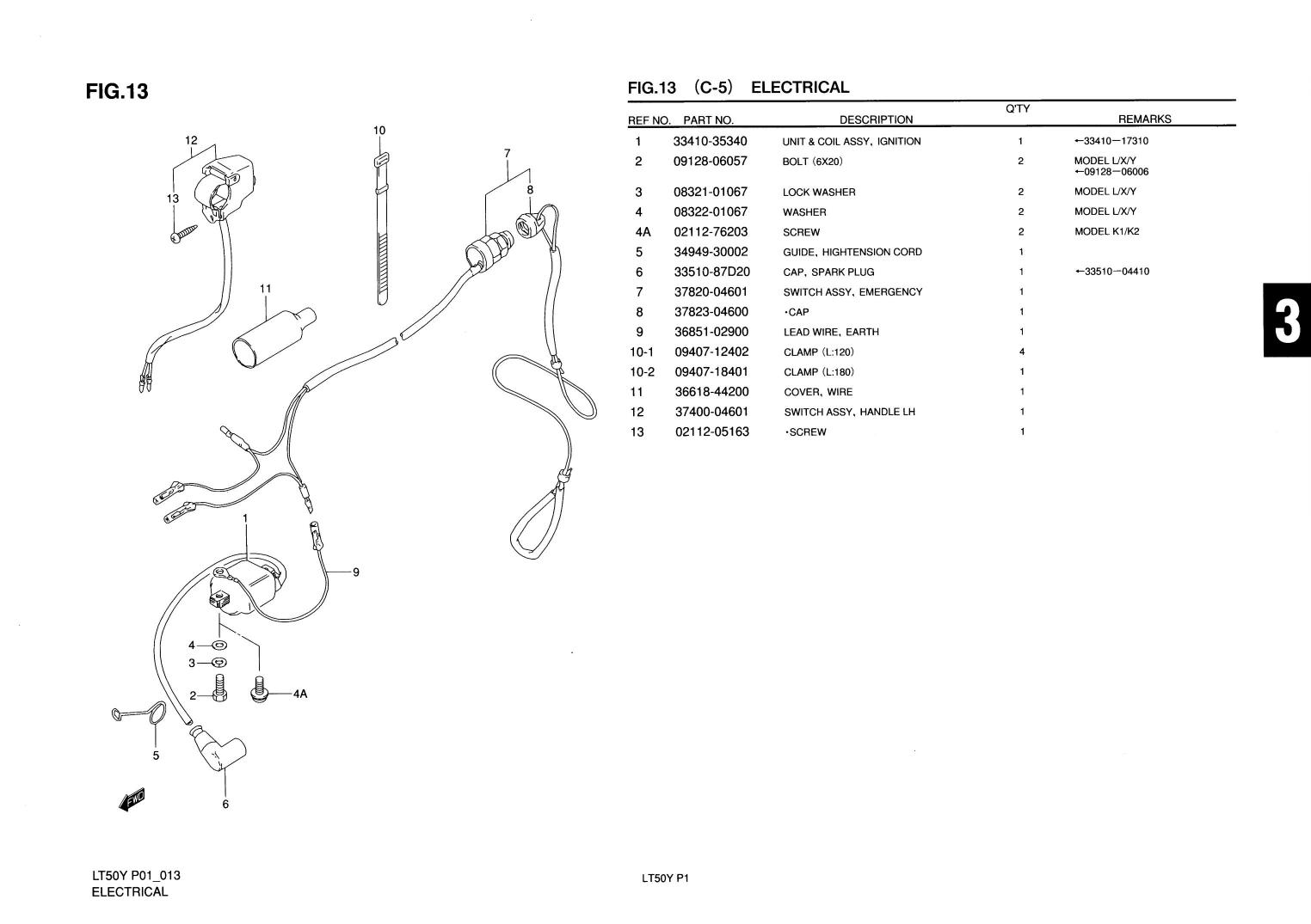 1997 suzuki lt50 parts diagram 2000 kia sephia engine genuine atv electrical emergency switch assy