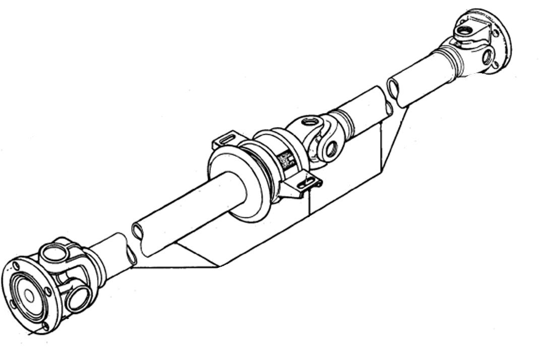 Prop shaft bearing ford transit
