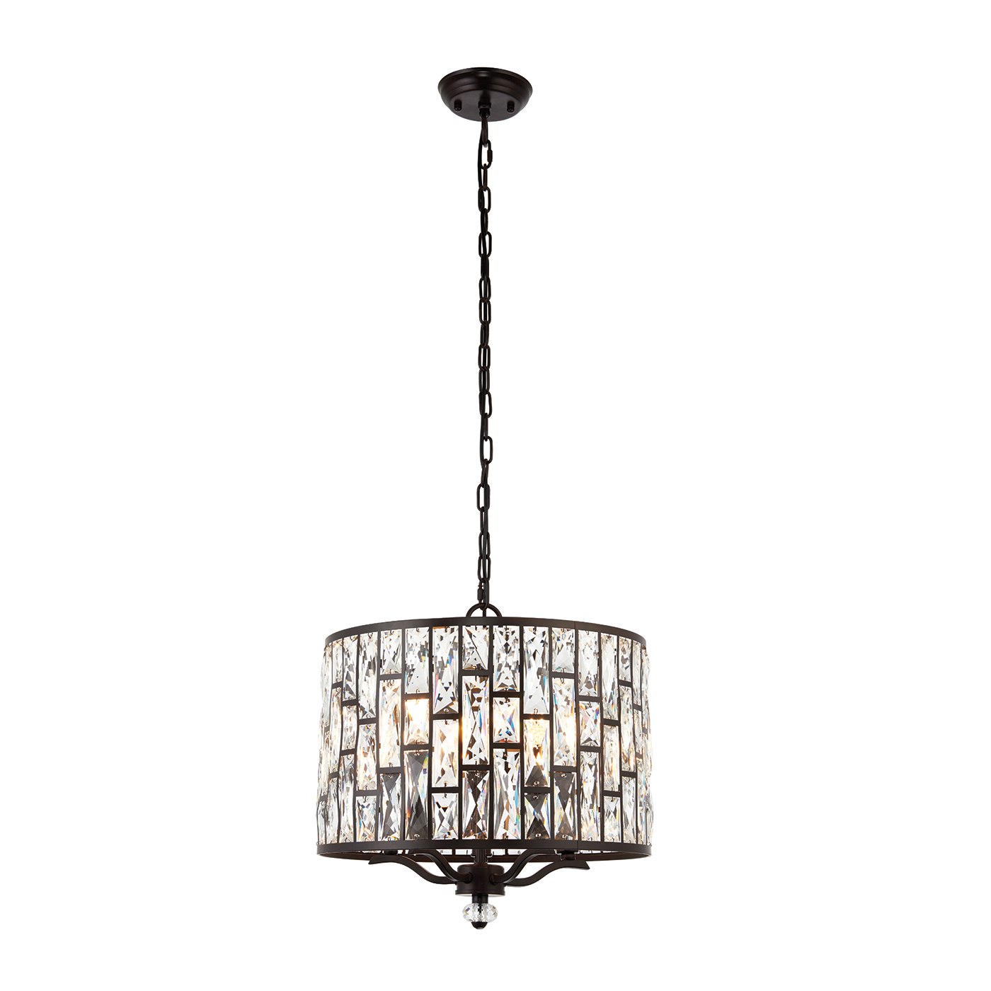 Endon Belle pendant 5x 40W Dark bronze effect plate