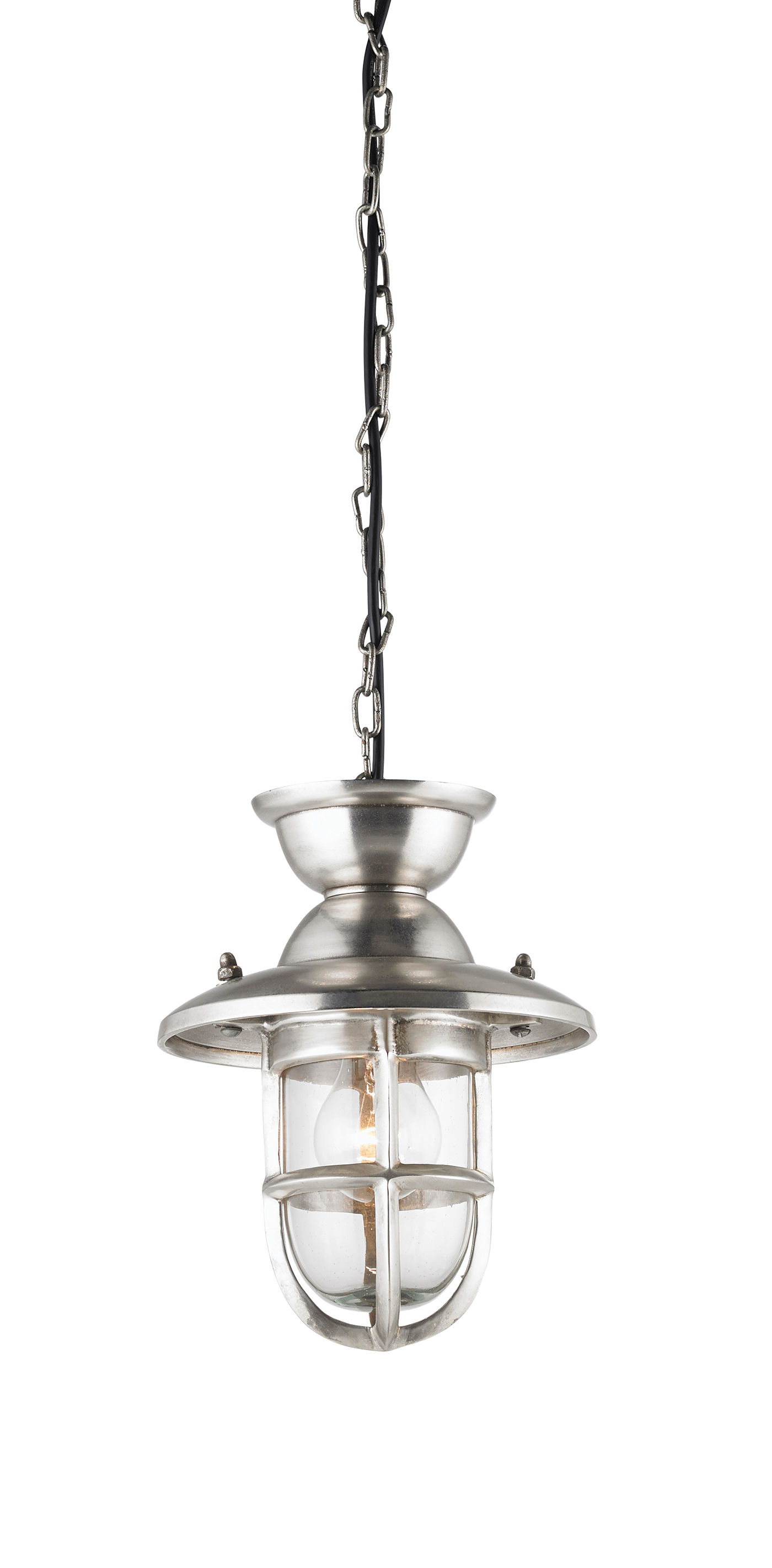 Endon Rowling 205mm pendant 40W Tarnished silver effect