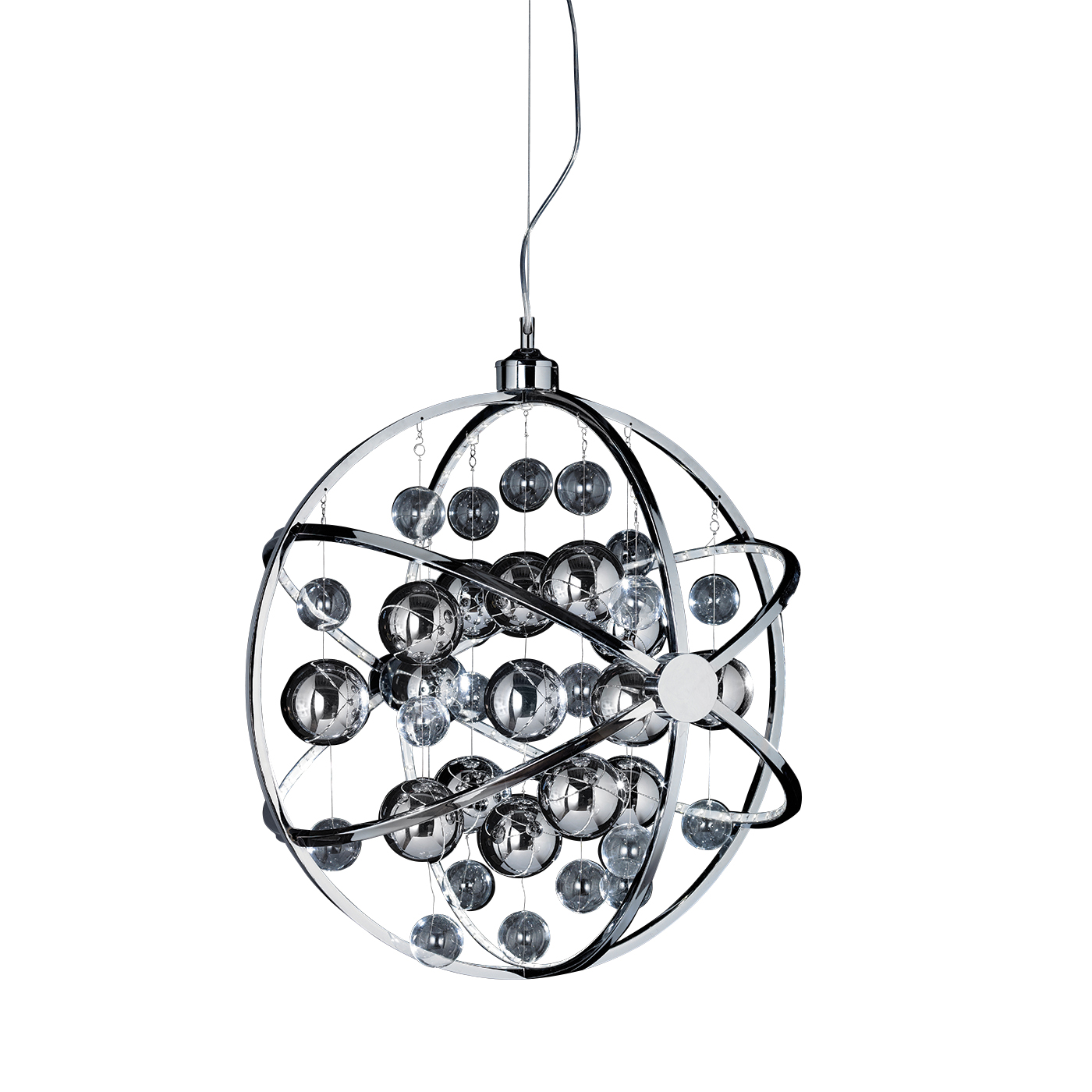 Endon Muni 600mm pendant 13W Chrome effect plate with