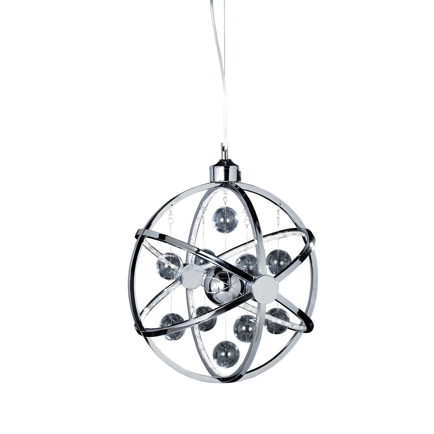 Endon Muni 390mm pendant 7.5W Chrome effect plate with