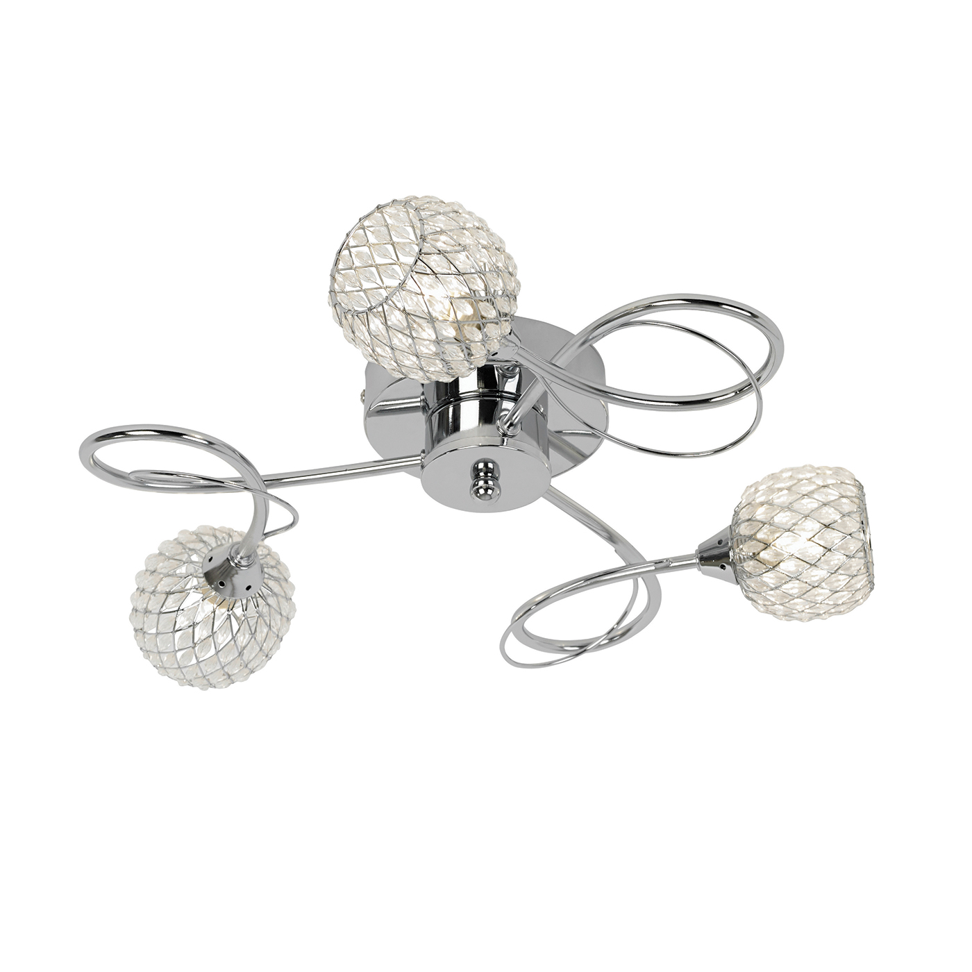Endon Aherne ceiling light 3x 33W Chrome effect chrome