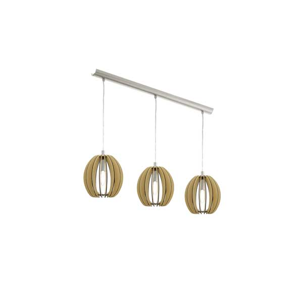 nickel-m.3X40W E14//Eglo Cossano pendant HL/3 E14 maple