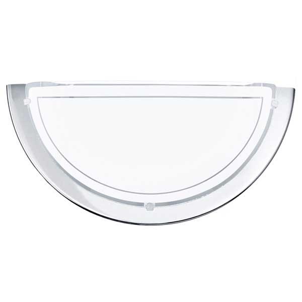 Eglo Planet 1 60W E27 half bowl wall Lamp Steel Chrome