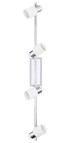 Eglo Davida GU10-LED 4X5W Spotlight Steel Chrome White