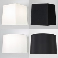 Astro Azumi Tag fabric tapered square round lampshade ...
