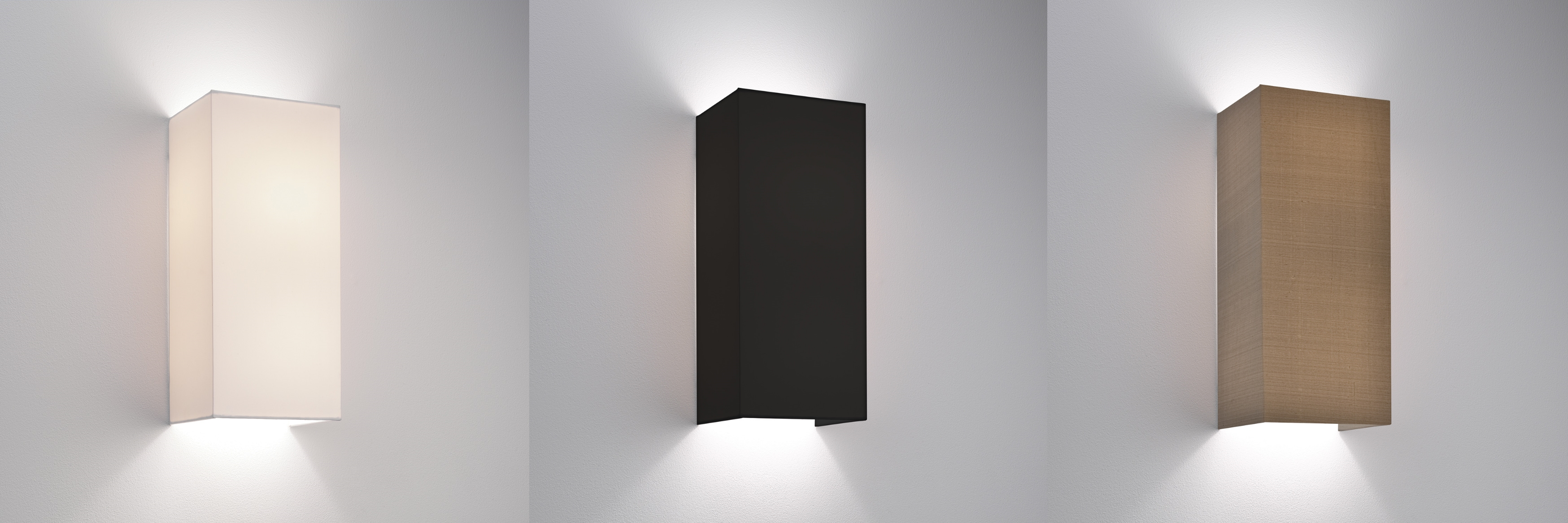 Astro Chuo 380 fabric wall light shade 2 x 60W E27 white