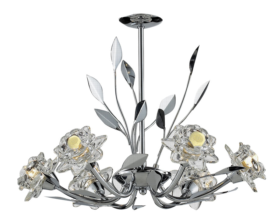 TP24 Piccadilly Covent Garden 6x3W LED pendant chrome