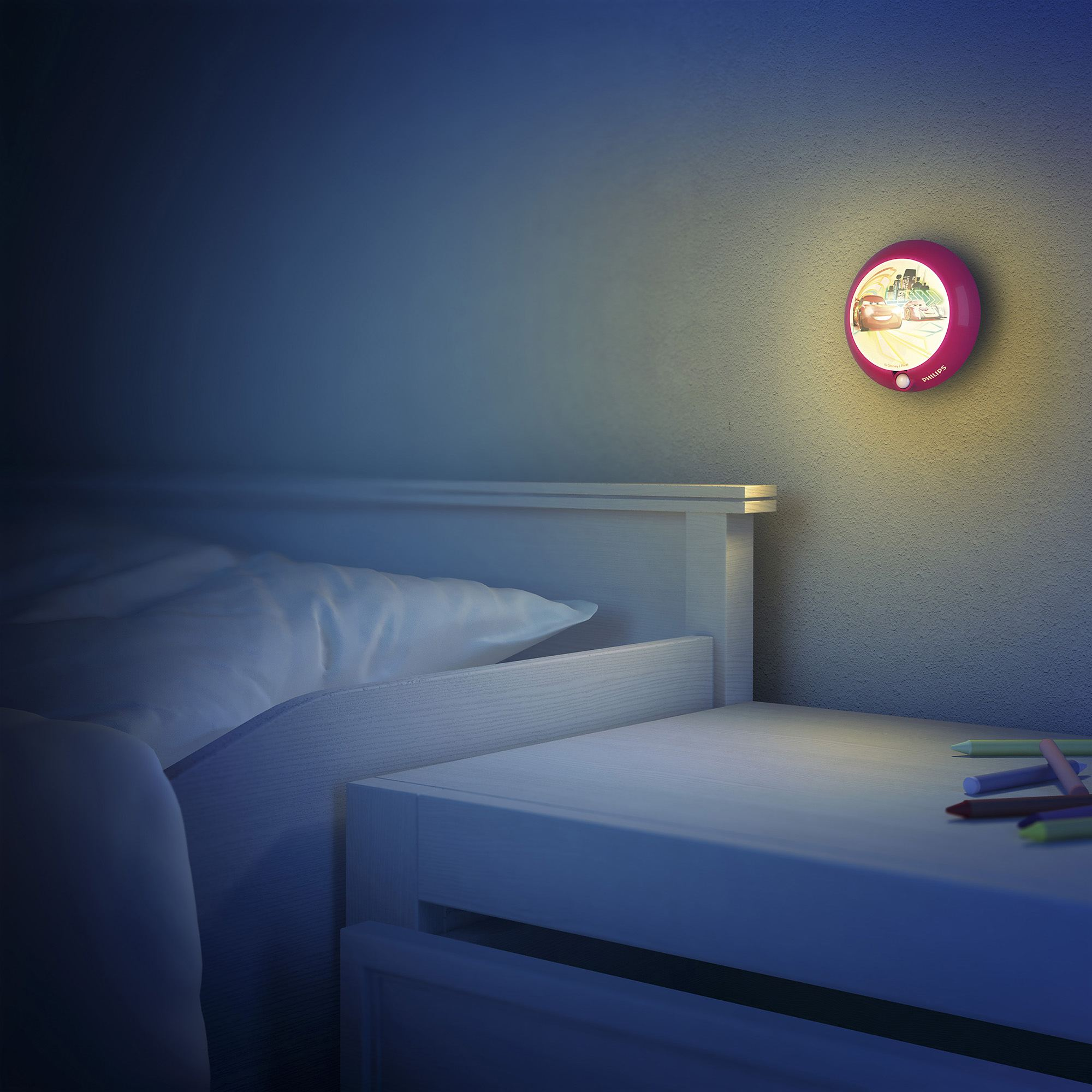 Philips Disney Cars childrens LED sensor night light
