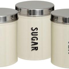 Kitchen Storage Canisters Sheet Vinyl Flooring Set Of 3 New Tea Coffee Sugar