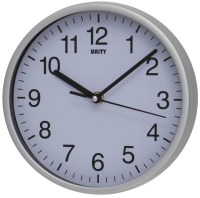 SILENT SWEEP WALL CLOCK BY UNITY RADCLIFFE CLOCK IN SILVER