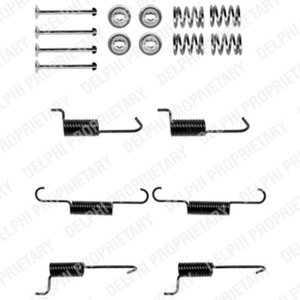 Parking Handbrake Brake Shoes Fitting Kit REAR Hyundai