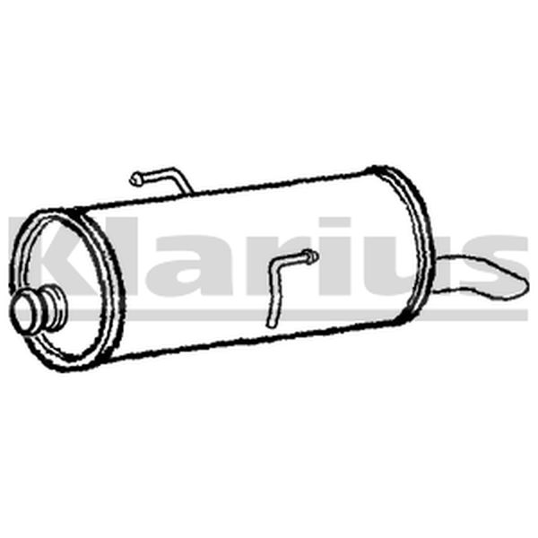 PG706J Rear Exhaust Back Box Silencer and Tail Pipe