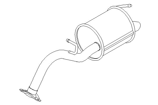 TY686D Rear Exhaust Back Box Silencer and Tail Pipe Toyota