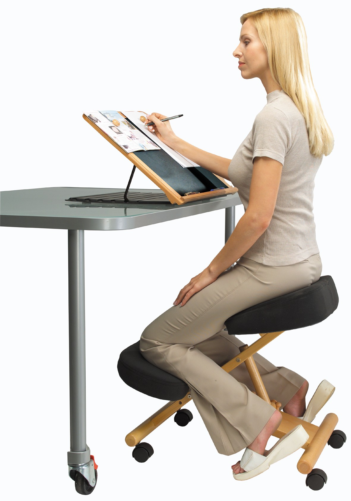 bad posture in chair revolving base online putnams kneeling for office and home new ebay