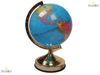 illumini 13 inch Globe Map of the World Touch Lamp with 4