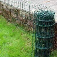 GARDEN BORDER LAWN EDGING 10M X 0.25M GREEN PVC COATED ...