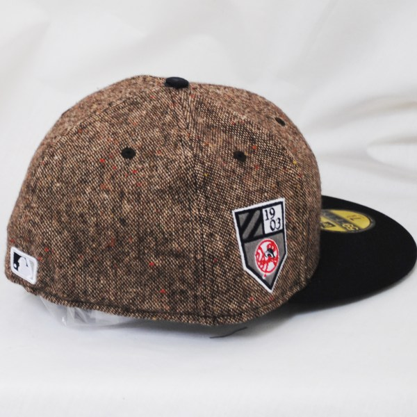 Era 59fifty Tweed Ny Yankees Fitted Cap Hat Brown Navy