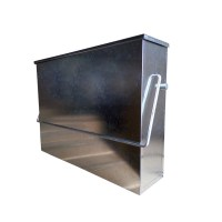KCT FIREPLACE METAL HOT ASH TIDY BOX CONTAINER PAN BUCKET ...