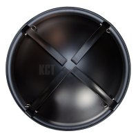 ROUND FIRE PIT WITH LID & FOLDING LEGS OUTDOOR GARDEN ...