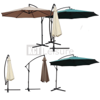 LARGE GARDEN CANTILEVER PARASOL WITH CRANK FOR PATIO SHADE ...