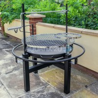 OUTDOOR CHARCOAL BBQ GRILL WITH ROTISSERIE BARBECUE HOT ...