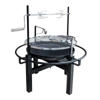 OUTDOOR ROUND CAMPING FIRE PIT CHARCOAL BBQ BARBECUE GRILL ...